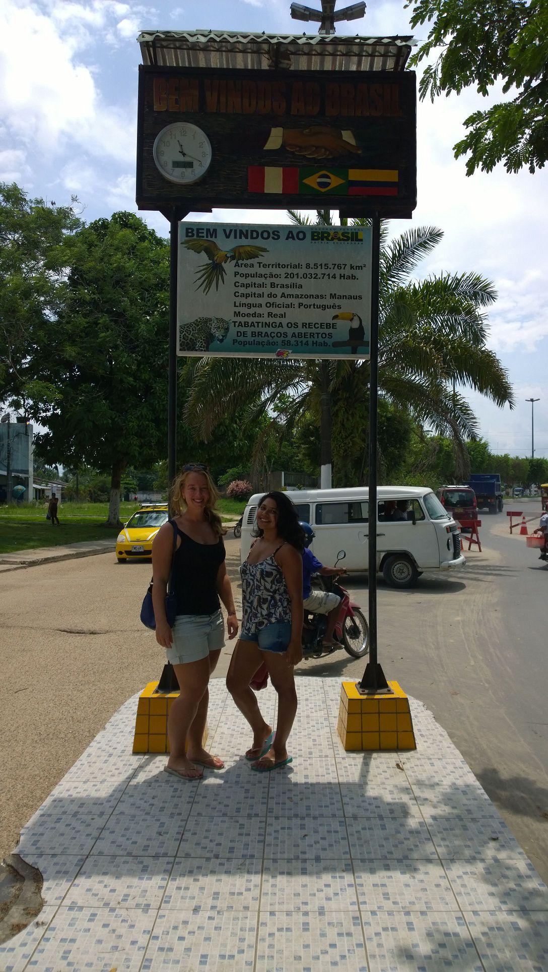 Border between Leticia and Tabatinga