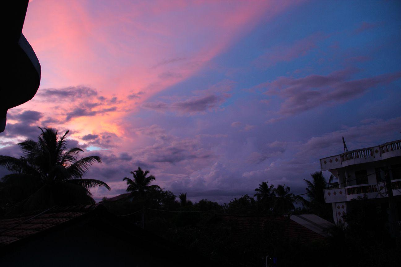 Sunset at Dilara resort, Mirissa