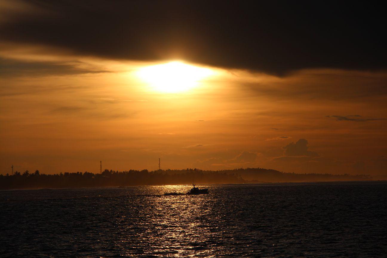 Sunrise at Mirissa Harbor