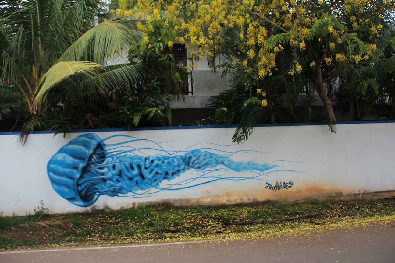 Mirissa streetart