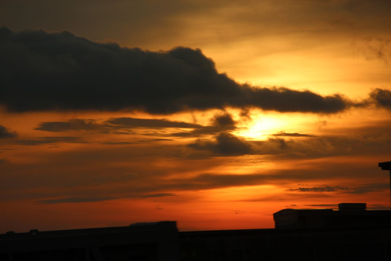 Sunset at Bandaranaike International Airport